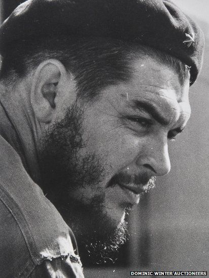Revolutionary leader Che Guevara (1928-1967) met Fidel Castro in 1955 and four years later played a key role in his guerrilla war against Cuban dictator Fulgencio Batista, leading to Castro taking over power in Cuba. This portrait of Che Guevara was sold for £1,000.