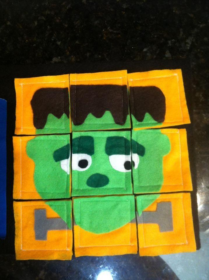 Frank puzzle, monster quiet book 2012