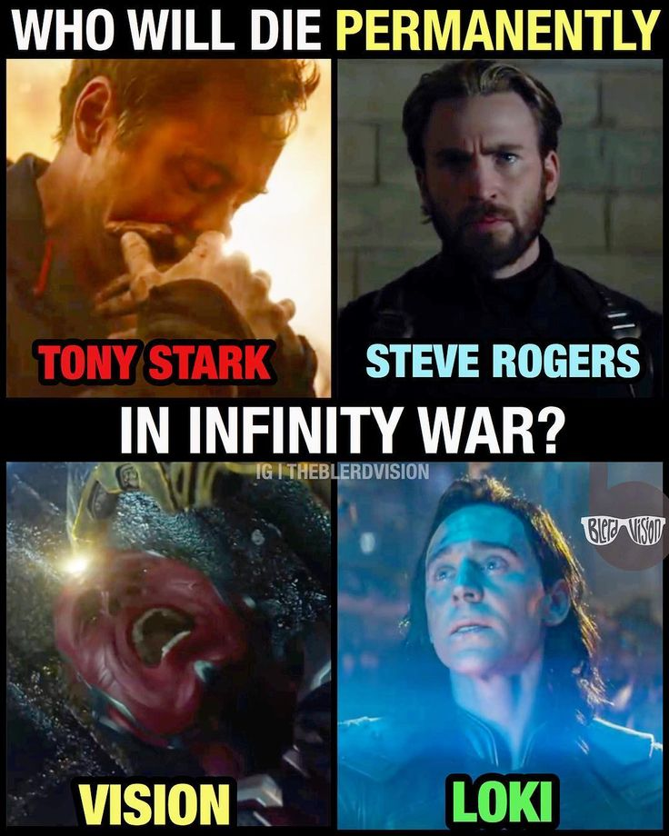 Let me know in the comments what you think! Chris Evans was already spotted shooting for Avengers 4 so he apparently survives Infinity War. My money is on Tony and Vision. I can't be too sure about Loki.