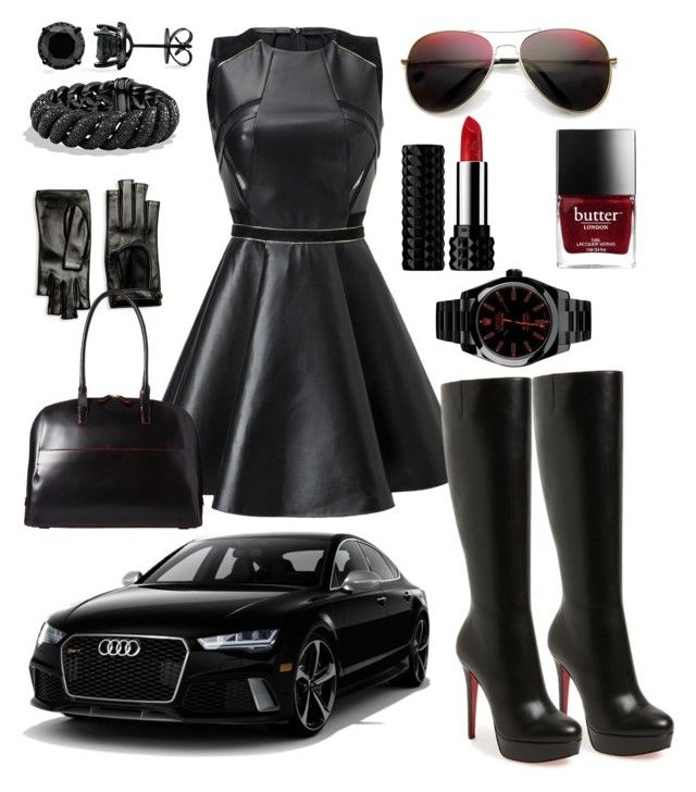 """The Driver is a girl..."" by pinnulinen on Polyvore featuring Christian Louboutin, Gucci, Lodis, Rolex, David Yurman and Kat Von D"