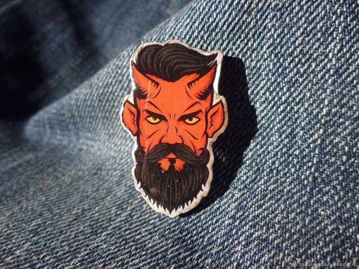 """Купить значок """"борода"""" в интернет магазине на Ярмарке Мастеров"""