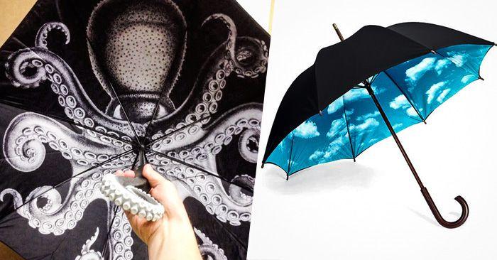 Diseños increíblemente creativos para sombrillas y paraguas que te alegaran el día aun en días lluviosos