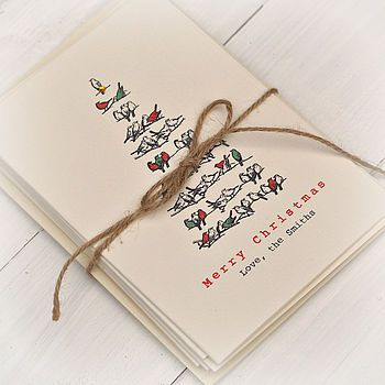 Personalised Christmas Tree Cards Pack