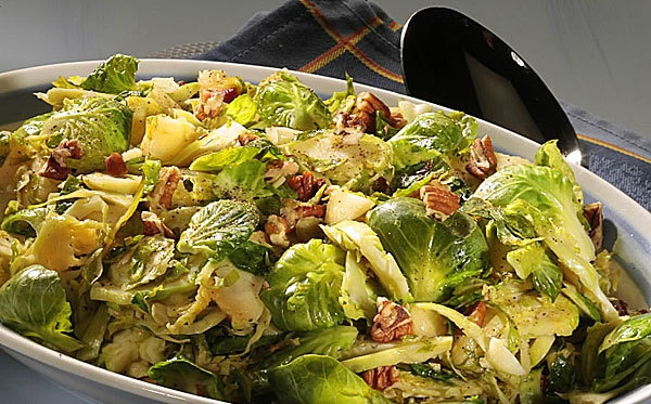 Shredded Brussels sprouts with apples, pecans by Colleen Patrick ...