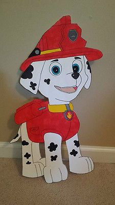 (1) Paw Patrol painted cutouts.  Birthday party / room decoration