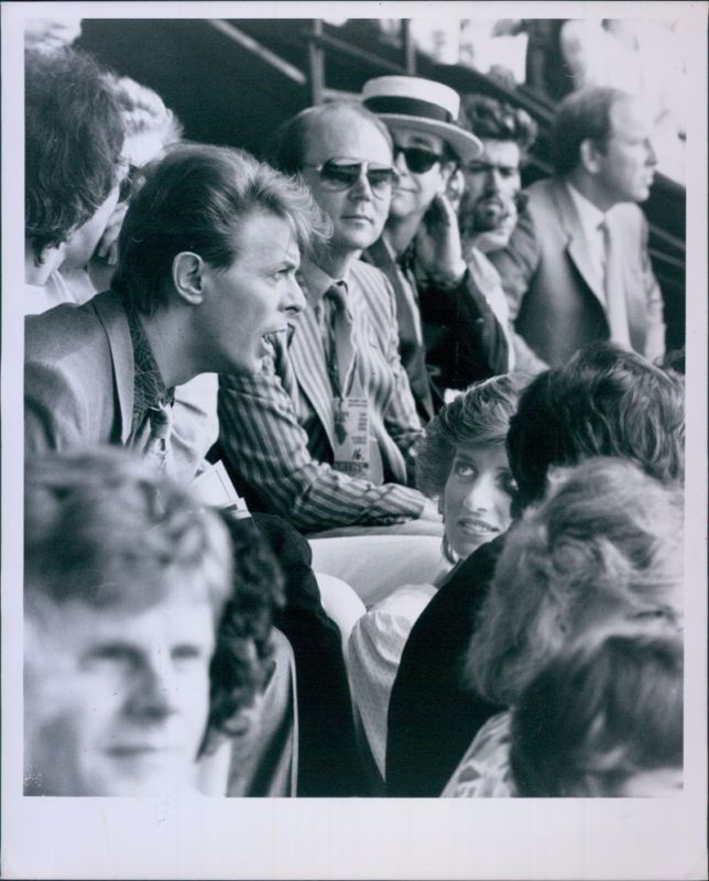 Vint '85 PRINCESS DIANA & DAVID BOWIE George Michael ELTON JOHN @ Live Aid Photo