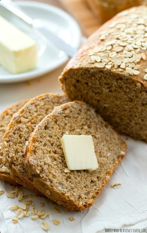 This hearty sandwich bread is chock-full of all kinds of nutritious grains---its soft texture and homemade flavor is 10x better than the bakery! Whole and Heavenly Oven