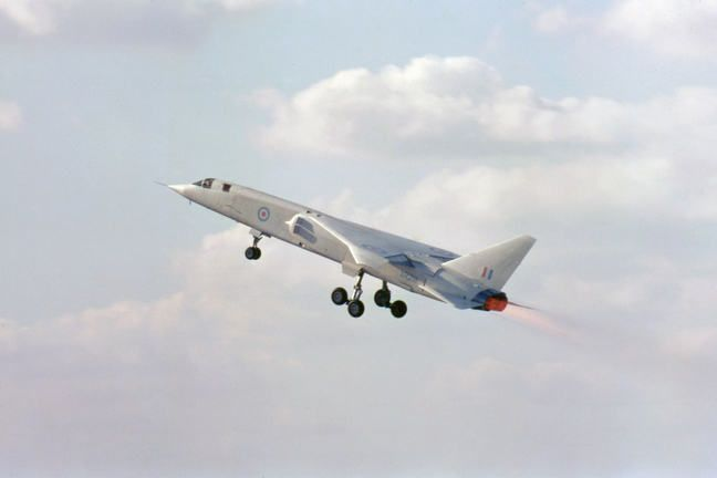 A TSR-2 taking off.