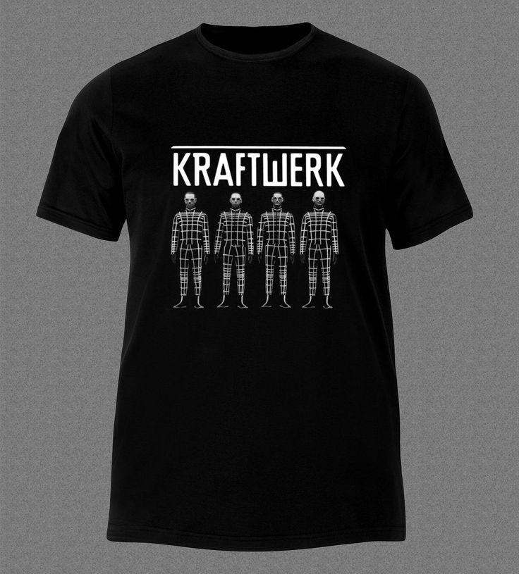 >> Click to Buy << KRAFTWERK BAND ELECTRONIC ART POP MUSIC GERMAN T-Shirt Stranger Things Print T Shirts Original Tee Shirts Hipster O-Neck #Affiliate