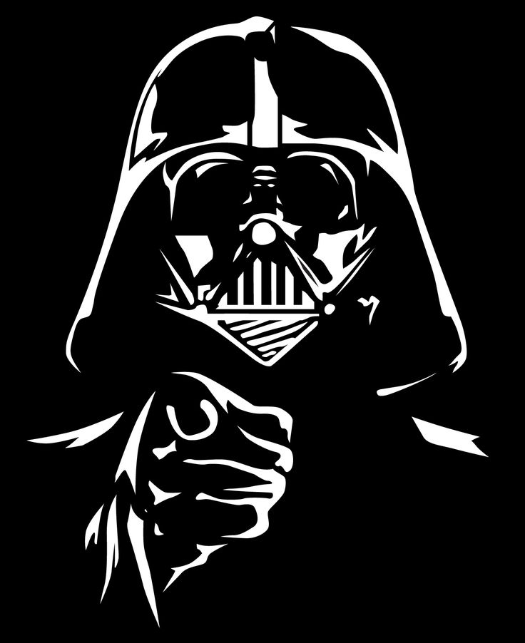25 best ideas about star wars stencil on pinterest star for Darth vader black and white