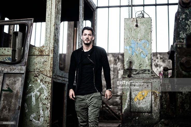 This image has been processed using a digital filter.) Roman Buerki of Borussia Dortmund poses for a portrait photo session at the shut down blast furnace plant Phoenix-West on October 26, 2015 in Dortmund, Germany.