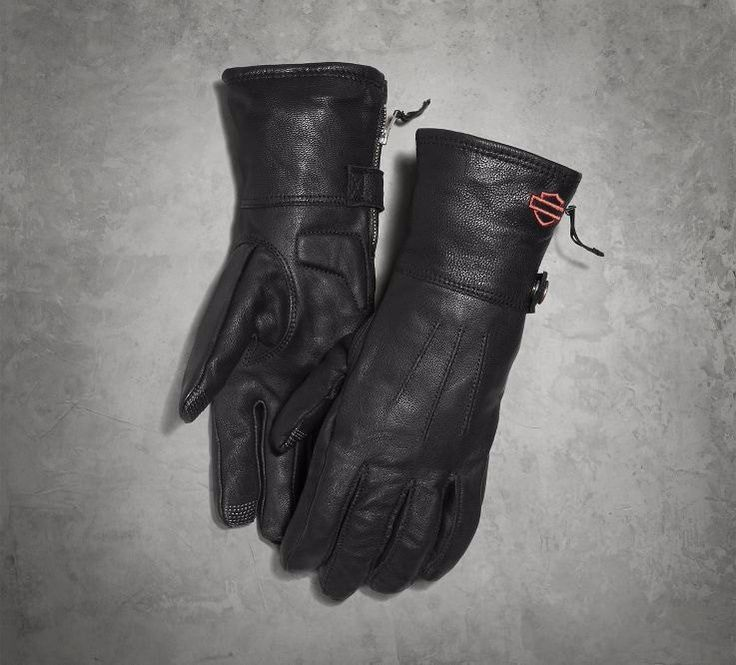 Leather Gauntlet Gloves with Touchscreen Technology