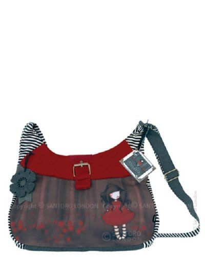 Santoro Gorjuss Poppy Wood Slouchy Bag: Amazon.co.uk: Office Products