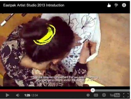 Brand New And Very Cool Trailer For Eastpak Artist Studio 2013 #robryan #eastpak #eastpakartiststudio2013 #DAA #designersagainstaids