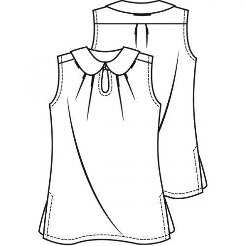 Voile blouse (PDF) | Knipmode