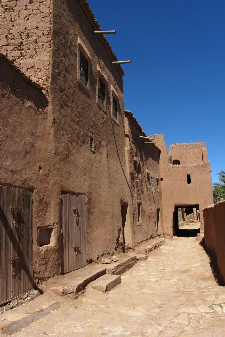 Le ksar d'Ait Ben Haddou, au Maroc, près de Ouarzazate. Bel exemple de l'architecture traditionnelle de terre du sud du pays.