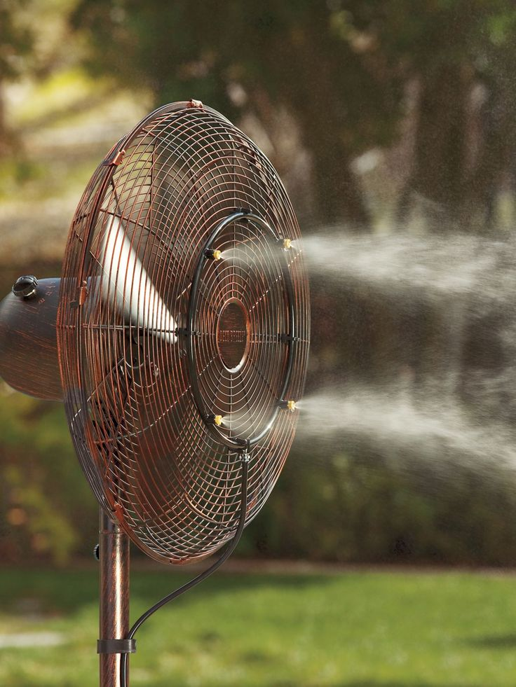 Turn down the heat by turning your outdoor fan into a refreshingly cool mister. Reduce the temperature around you by up to 30° with this professional-grade misting system. Easy-to-install—just attach the metal ring to your fan, and the hose to a spigot, then sit back and relax as the ocean-like breeze creates a cooling oasis in any outdoor area.