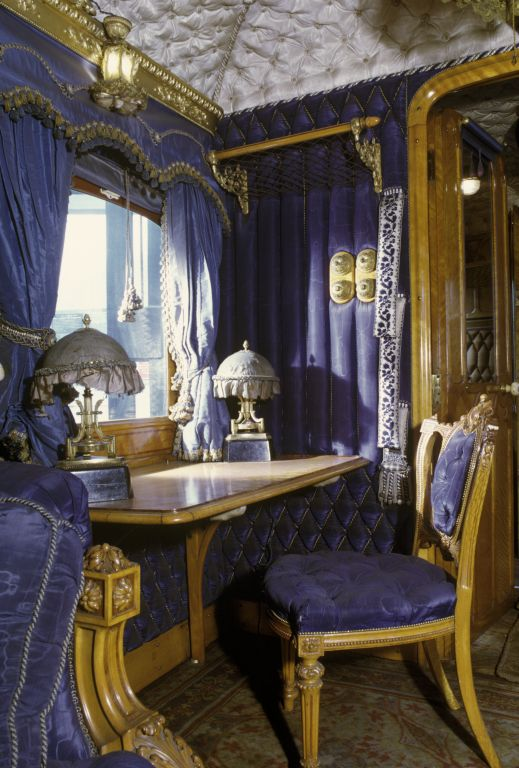 Queen Victoria's Saloon on her private train, National Railway Museum