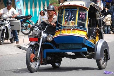 Becak-  A common way to travel around the city...