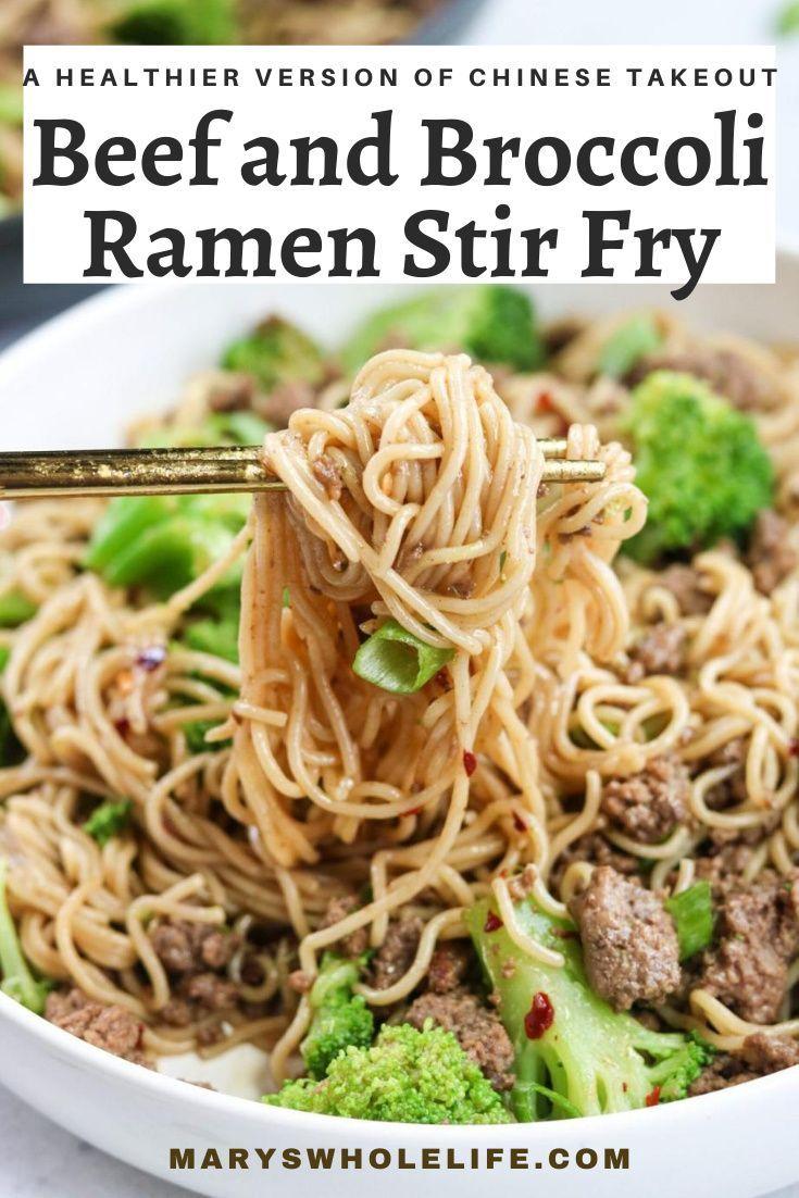 Beef And Broccoli Ramen Stir Fry Gluten Free Recipe In 2020 Broccoli Beef Ramen Stir Fry Healthy Recipes