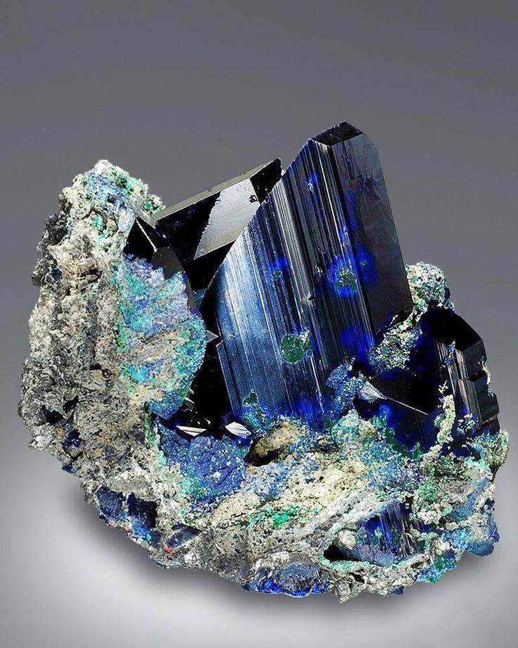 Azurite --- Tsumeb Mine, Namibia