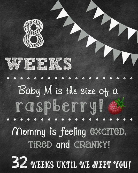 Printable Weekly Pregnancy Countdown by ChalkingItUpBoards on Etsy