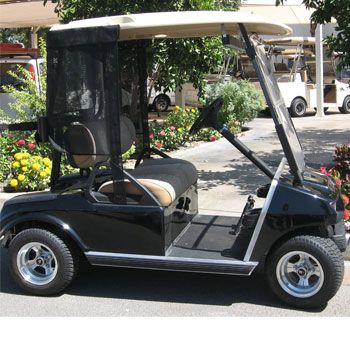 This Three Sided Shade Protection Easily Attaches To Your Club Car    Provides Protection From The