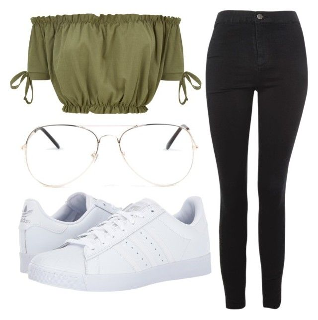 """Green <3"" by liaperezmorales on Polyvore featuring Topshop, adidas and Armitage Avenue"