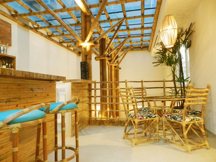 Restaurante Hawaiian Poke Florianópolis - Projeto de reforma e interiores by Gea - Estrutura Guadua bambú
