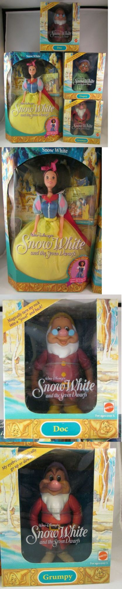 Snow White 19222: Disney Snow White Doll Lot With Doc Dopey Grumpy Mattel -> BUY IT NOW ONLY: $45 on eBay!
