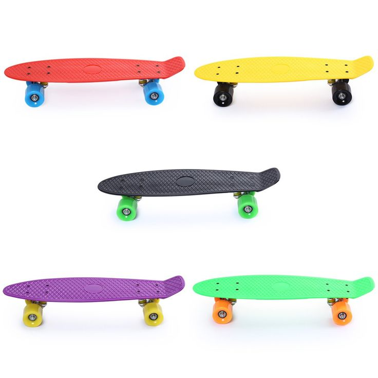 5 Color de 22 Pulgadas Calle Patín de Cuatro ruedas Tabla Larga Patinaje Freestyle Fresco Popular Mini Cruiser Skateboard Fish Plátano Tabla larga