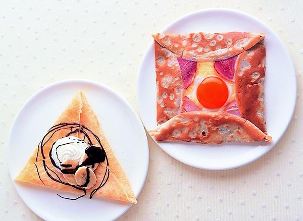 そば粉で作る「ガレット・コンプレット」と、ヨーグルトの酸味でさっぱり「チョコバナナ×ヨーグルトクリームクレープ」/いろいろクレープ&ごちそうガレット(「はんど&はあと」2011年9月号)