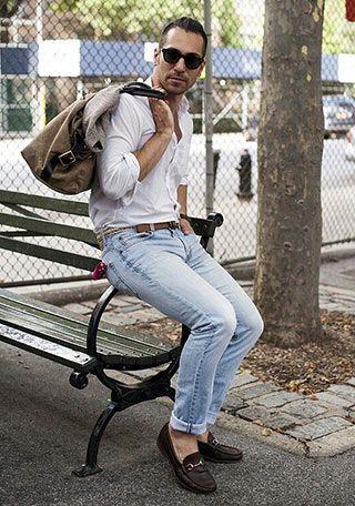 レザースタジャン×迷彩柄シャツの着こなし(メンズ) | Italy Web