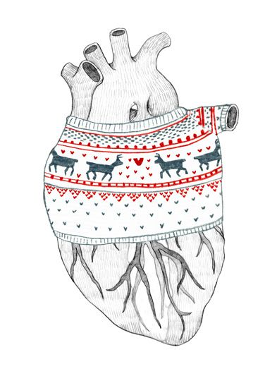 Heartwarming : Katie Vernon Illustration  Clever, as chemotherapy damaged heart patient, I'm loving & caring for my heart in all ways...even a mental heart gator!!  (CHF + Left Bundle Branch Blockage)