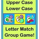 HANDS-ON ALPHABET FUN!  Match the UPPER CASE and LOWER CASE LETTERS with an active GROUP GAME!  Put your kids into two facing lines, and let the fun begin!  Learn a funny RHYME with a great rhythm pattern.  26 UPPER CASE and 26 LOWER CASE LETTER CARDS are color-coded for simple game play!  Also includes 26 AaBbCc LETTER MATCH CARDS.  Use these to call kids up to do some 'MOVES' as they match their letters!  Great for bad-weather days when the learning needs to be ACTIVE!  (15 pgs)  $
