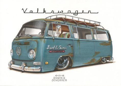 '69 VW Bus T2 by DominikScherrer