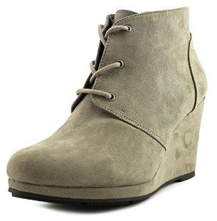 Style&Co. Style & Co Alaisi Women Open Toe Suede Gray Wedge Heel.