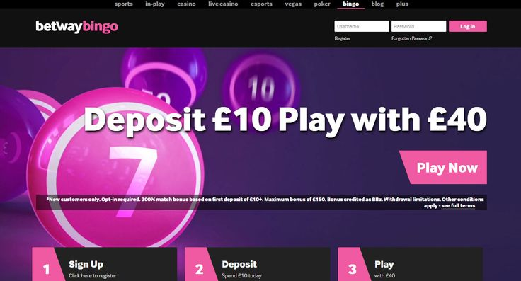 Betway Bingo is a Best New Online Bingo Site player reviews and expert opinions exclusively here. Get a 300% bonus when you deposit. Sign up now...