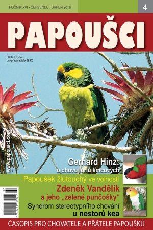 Obálka nejnovější číslo časopisu PAPOUŠCI