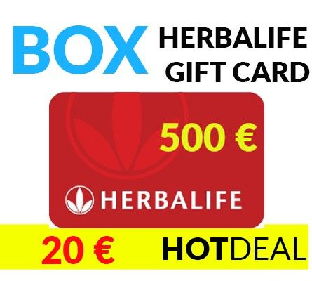 HERBALIFE GIFT CARD 500 € for the price of 20 €