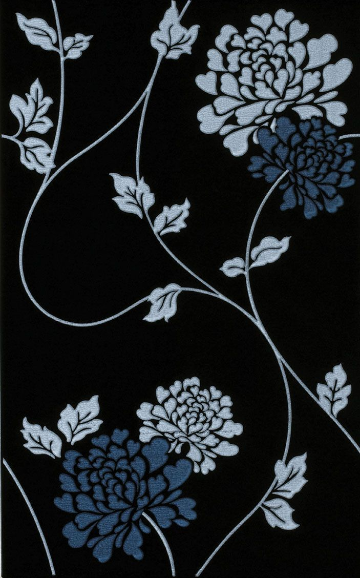 33 best laura ashley images on pinterest laura ashley tile laura ashley isodore white on black floral tile from house of british ceramic tile http dailygadgetfo Gallery
