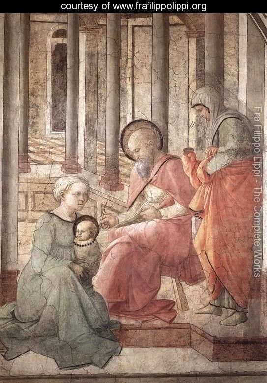 Detail: Birth and Naming St John (detail) 1452-65 Fra Filippo Lippi