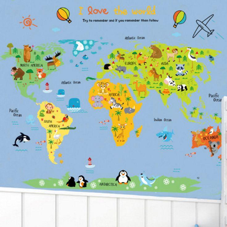 Utazás a világ körül térképes falmatrica gyerekszobában.  #térkép #föld #világ #világtérkép #kontinens #földrajz #országok  #gyerekszobafalmatrica #falmatrica #gyerekszobadekoráció #gyerekszoba #matrica #faldekoráció #dekoráció