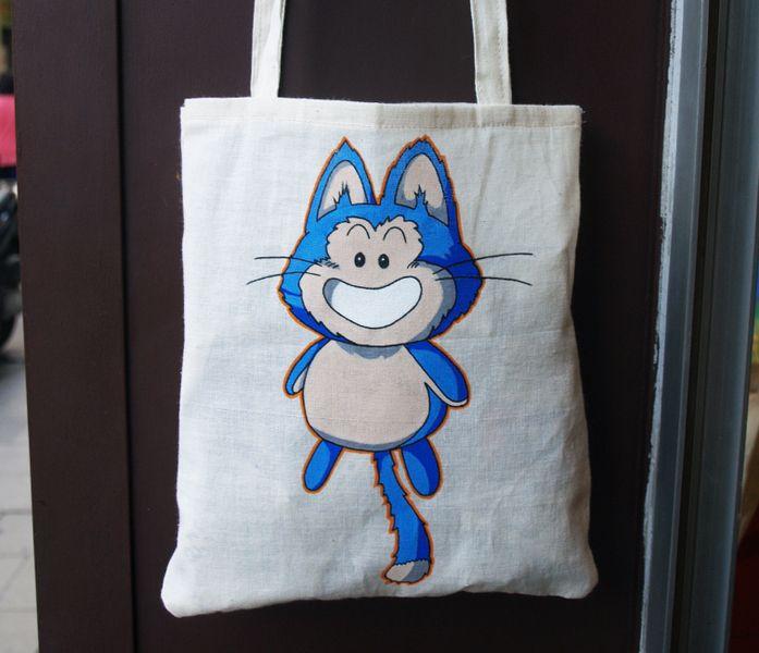 Puar Tote Bag de Mr. Rancio! Ilustración por DaWanda.com #handmade #totebag #dragonball