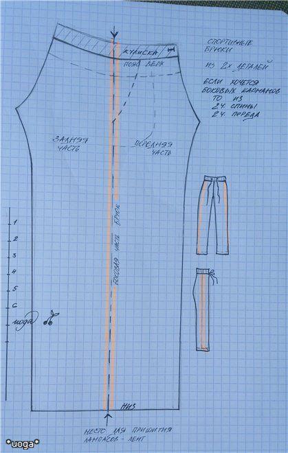Изображение Moxie Teenz track pants pattern
