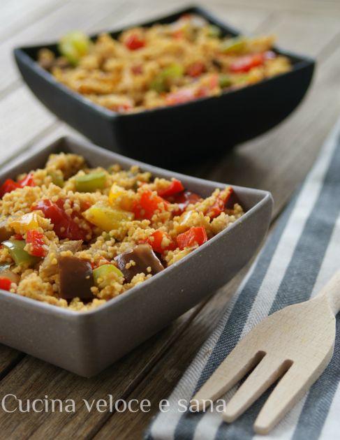 Couscous piccante alle verdure, un piatto gustoso e colorato,che ci permette di saziarci in modo sano, il peperoncino rende questo piatto più saporito