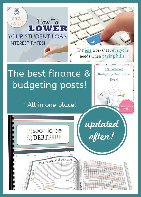 Money Matters Budget Roundup! Money Pinterest Budgeting
