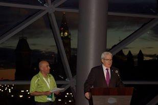 The Ambassador of Greece addresses the 2013 Tamarack Ottawa Race Weekend President's Reception.