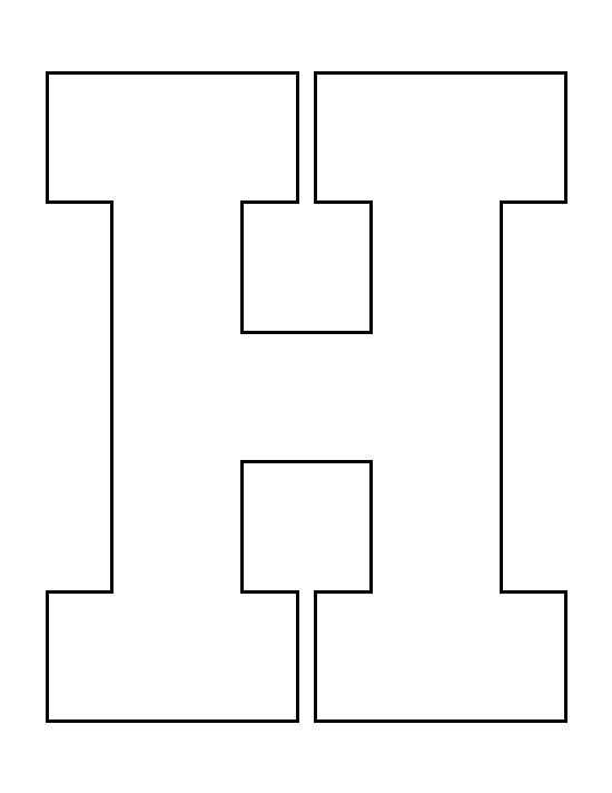 Letter h pattern use the printable outline for crafts for H and p template