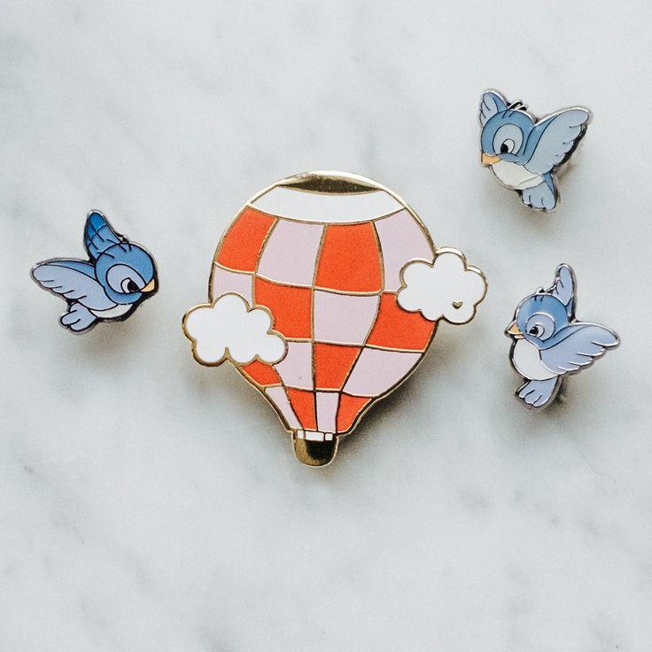 Joli pin's montgolfière - cute hot air balloon pin